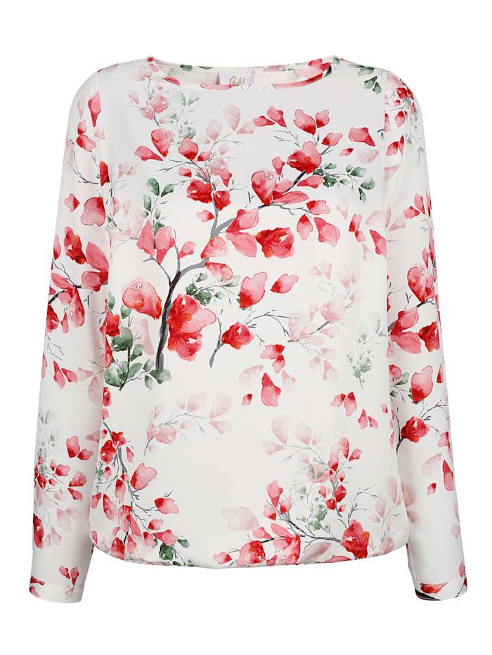 Blouse à imprimé floral devant et dos