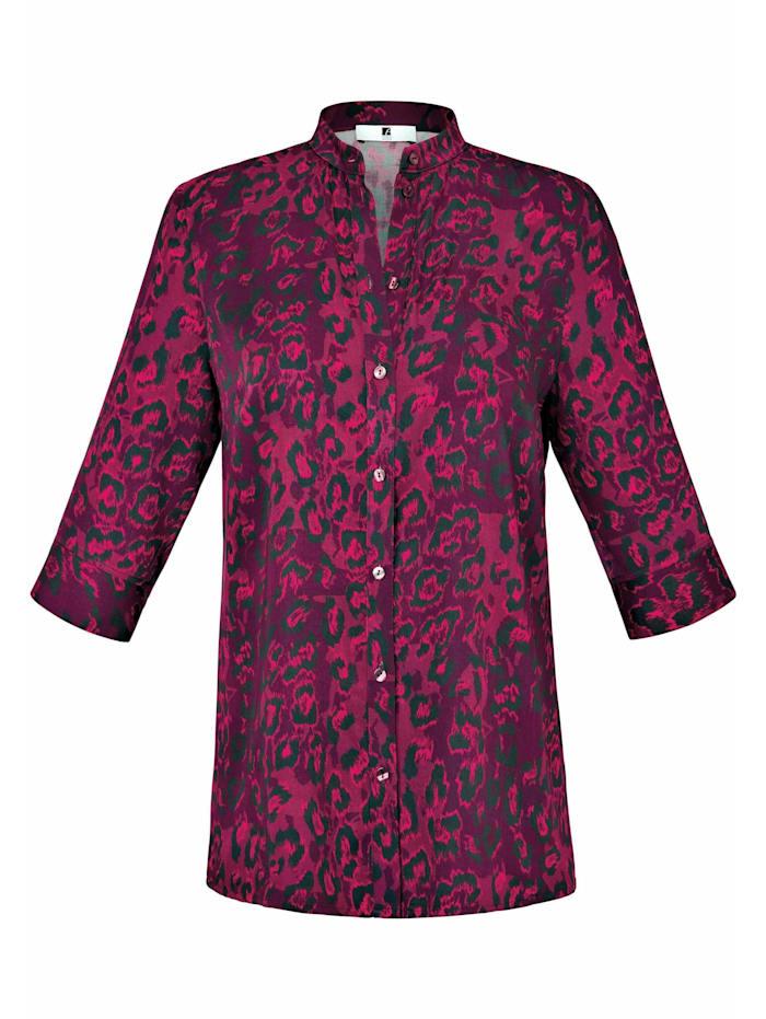 Anna Aura Kurzarmbluse Bluse mit 3/4-Arm, dunkelpink/pink