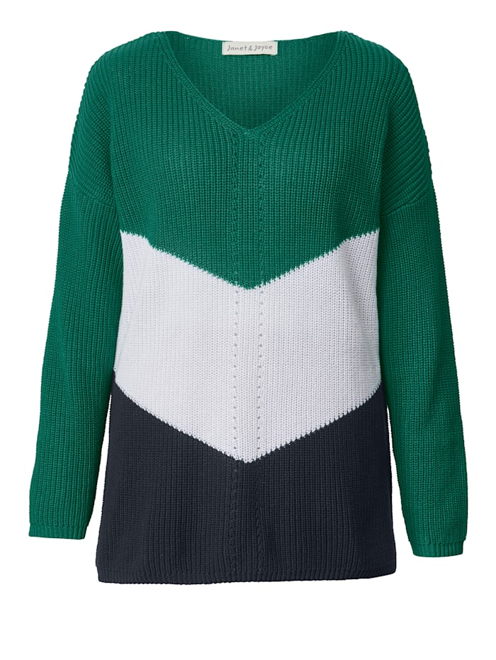 Pullover mit Color-Blocking-Muster