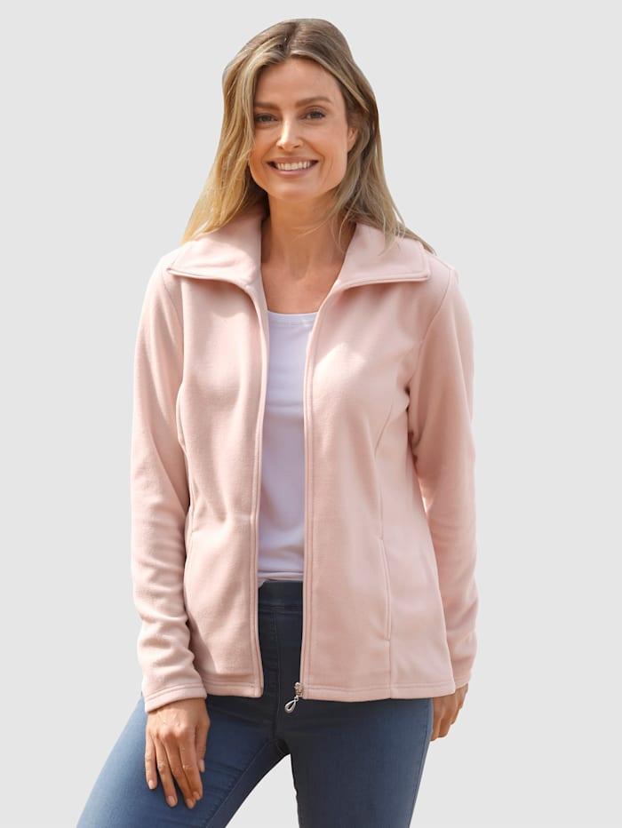 basically you Fleece vest in sportieve look, Lichtroze