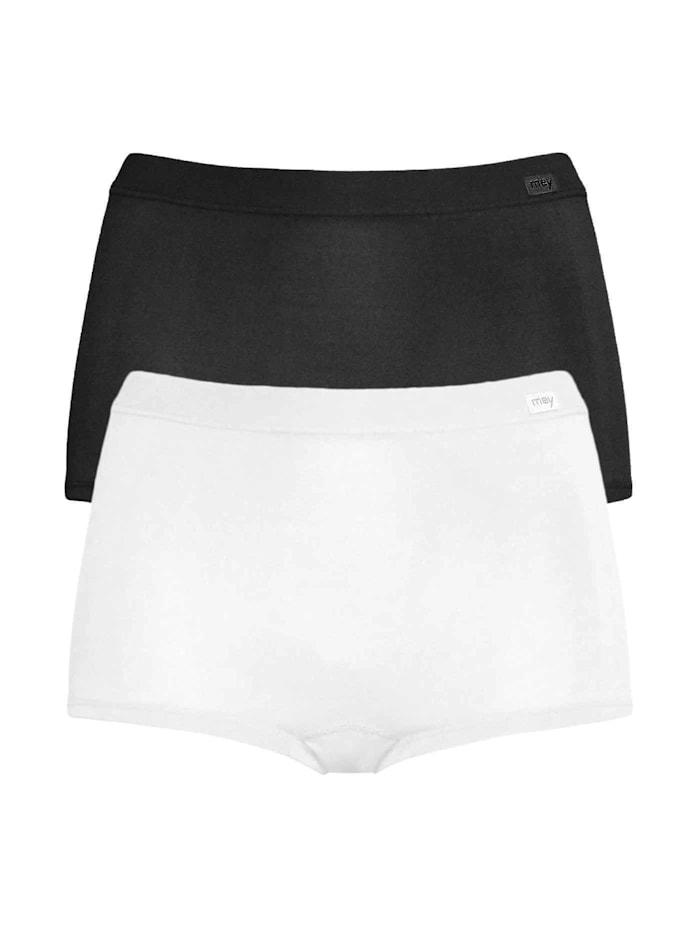 Mey Panty im Doppelpack, weiß-schwarz
