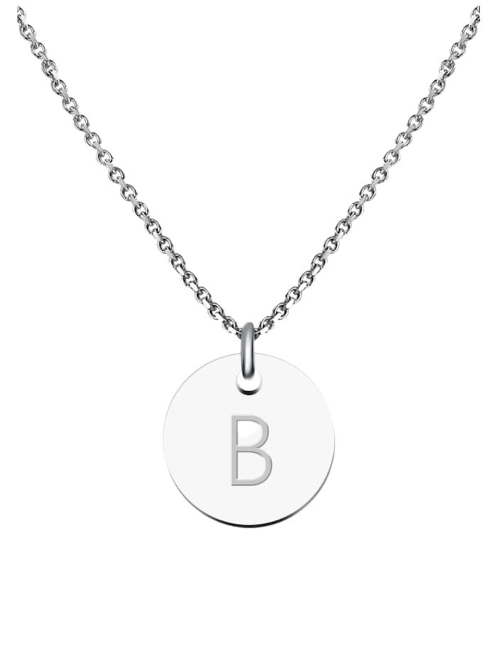 GOOD.designs Kette mit Anhänger Edelstahl Halskette B, silber