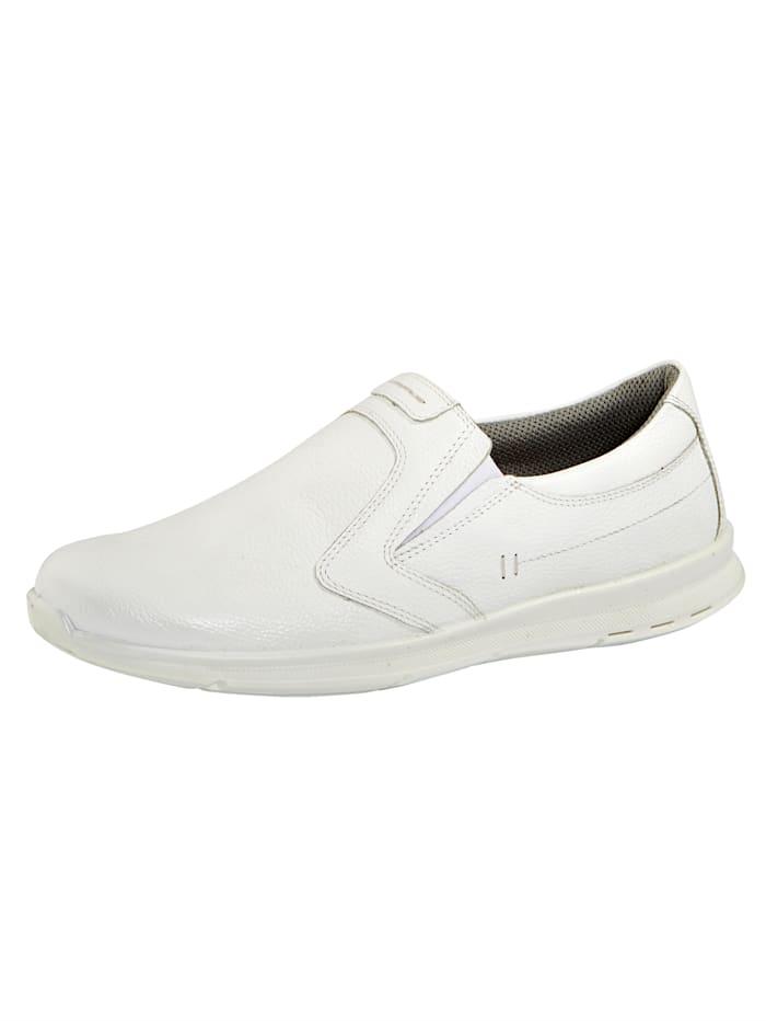 Jomos Slipper aus weichem Leder, Weiß