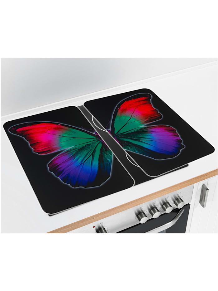 Herdabdeckplatte Universal Butterfly by Night 2er Set, für alle Herdarten
