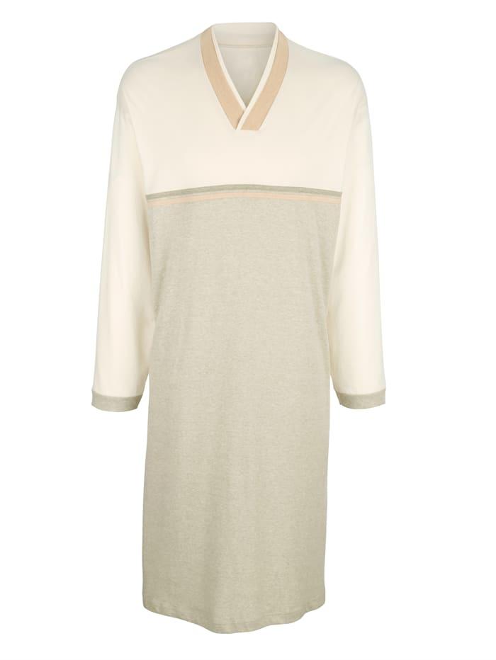 Götting Noční košile z barevně zušlechtěné bavlny, Přírodní