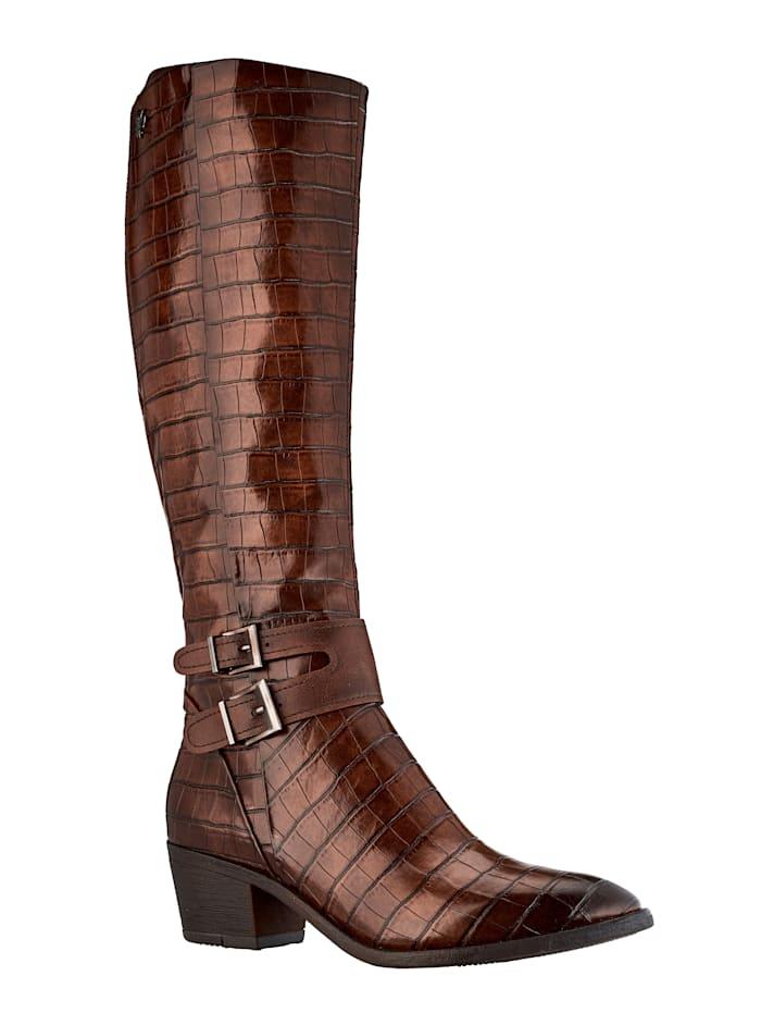 Marco Tozzi Stiefel für ein perfektes Outfit, Cognac