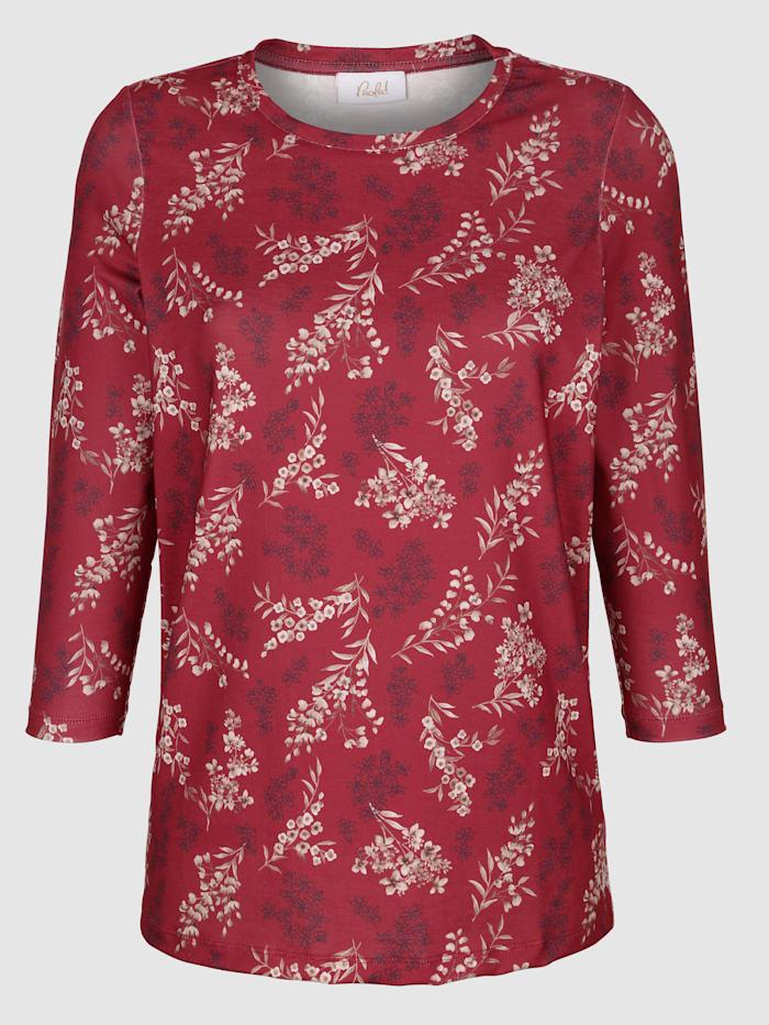 Shirt mit floralem Muster rundum