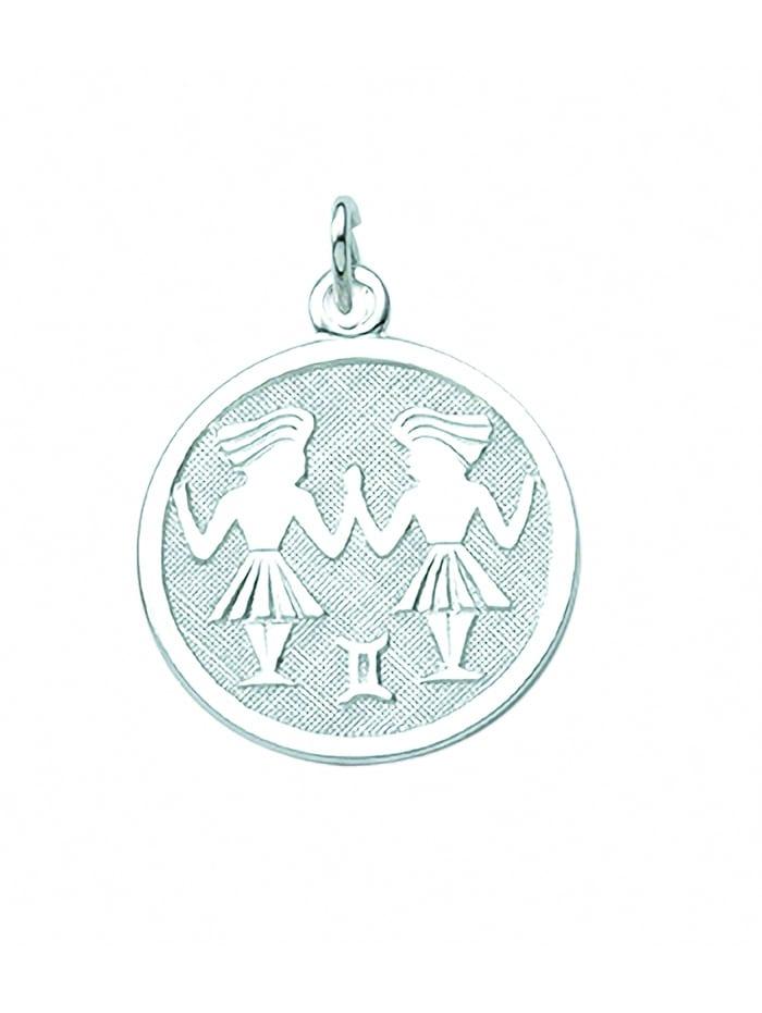 1001 Diamonds Damen & Herren Silberschmuck 925 Silber Sternzeichen Anhänger Zwilling Ø 15,7 mm, silber