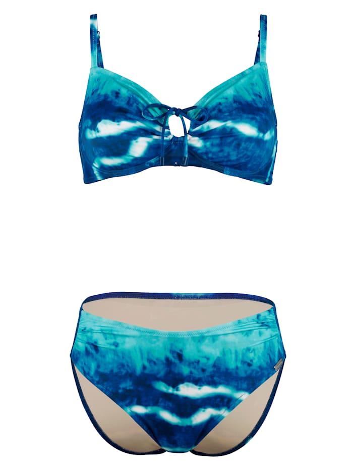 Charmline Bikini in aquakleuren, Blauw