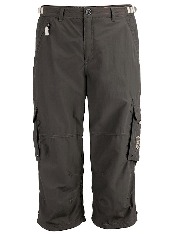 Killtec Shorts med reglering i linningens sidor, Gråbrun