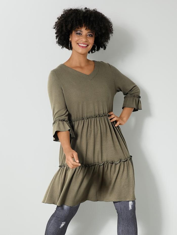 Angel of Style Tunika-Shirt in Feinstrick-Qualität, Khaki