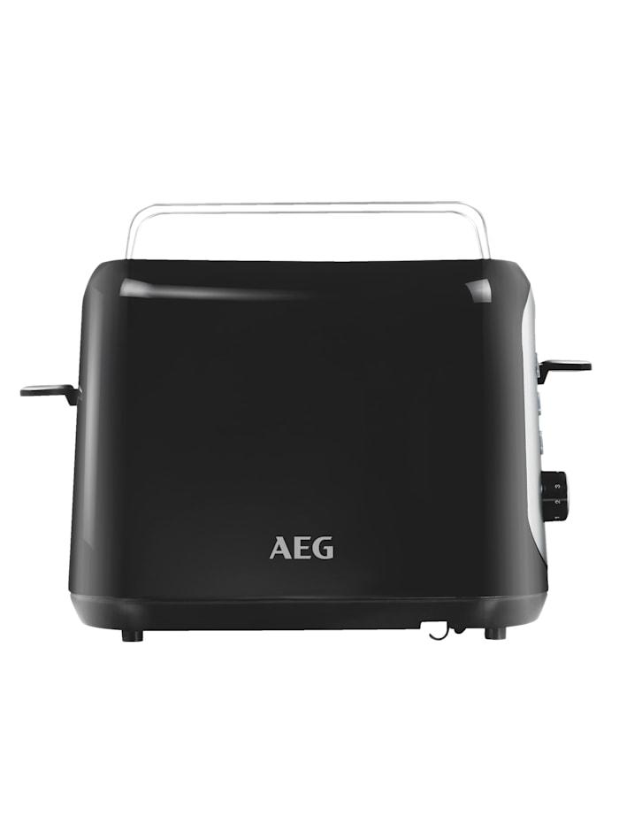 AEG Automatische broodrooster AT 3300, zwart/zilverkleur