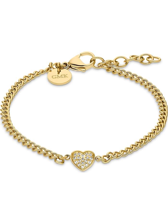 Guido Maria Kretschmer GMK Damen-Armband Edelstahl 18 Zirkonia, gelbgold