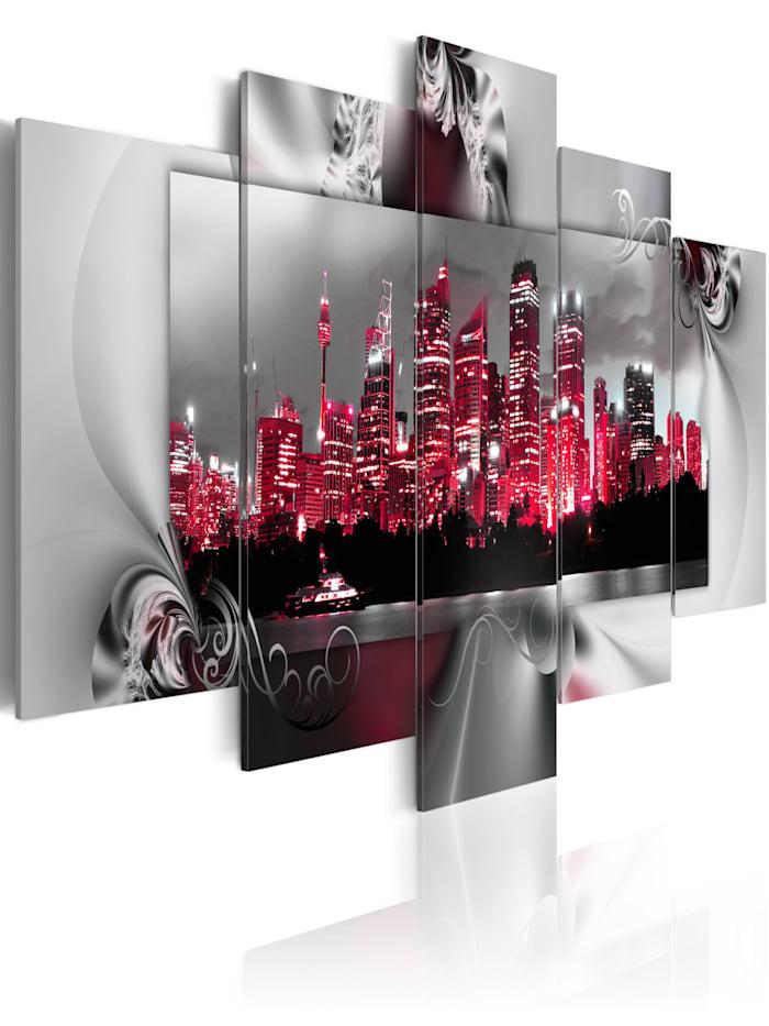 artgeist Wandbild Dream about Sydney, Grau,Rot,Schwarz