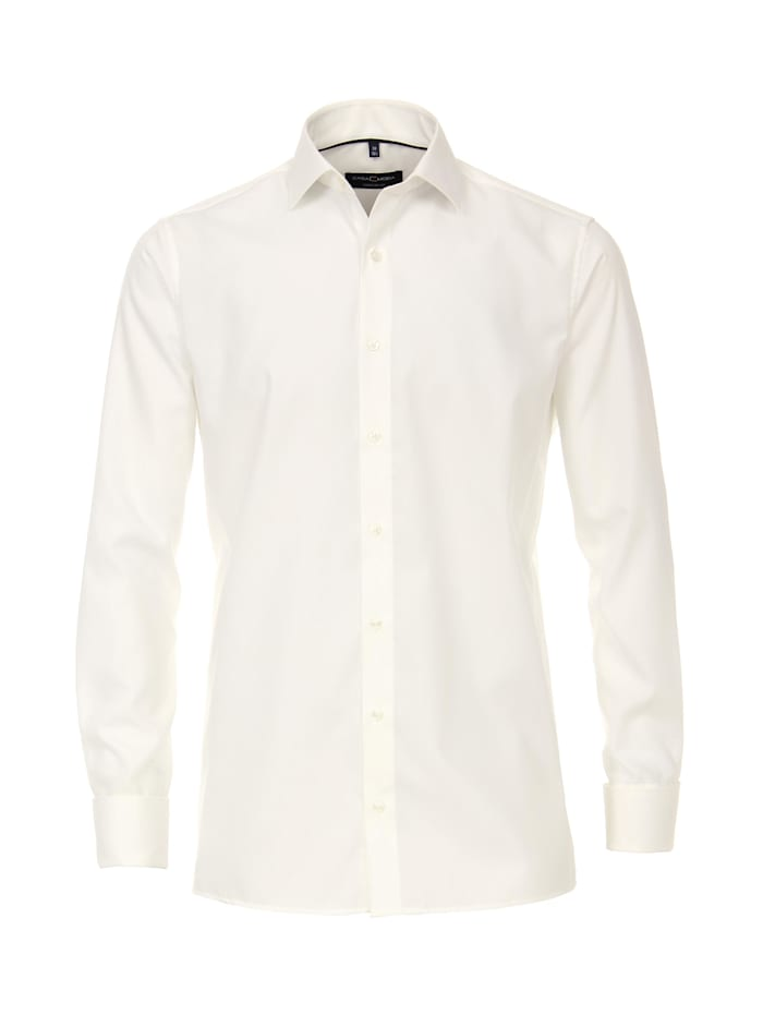 CASAMODA Hemd uni Comfort Fit, Weißbeige