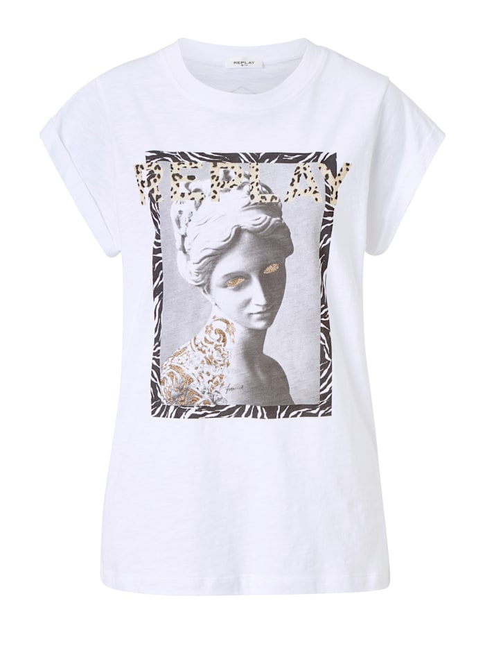 REPLAY Shirt, Off-white