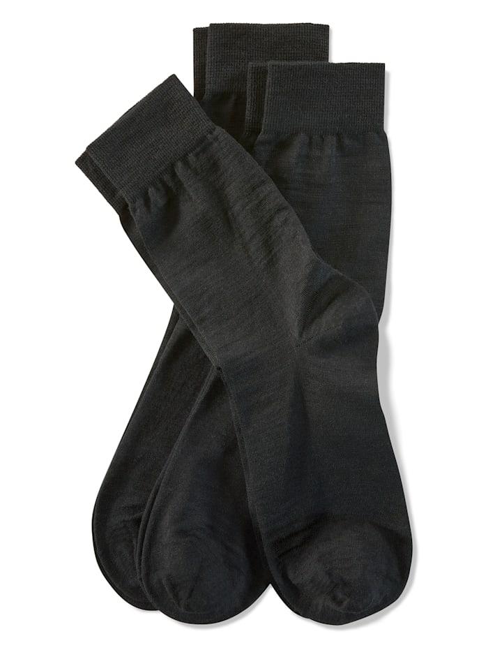 Weissbach Sokken met handgekettelde teen, Zwart