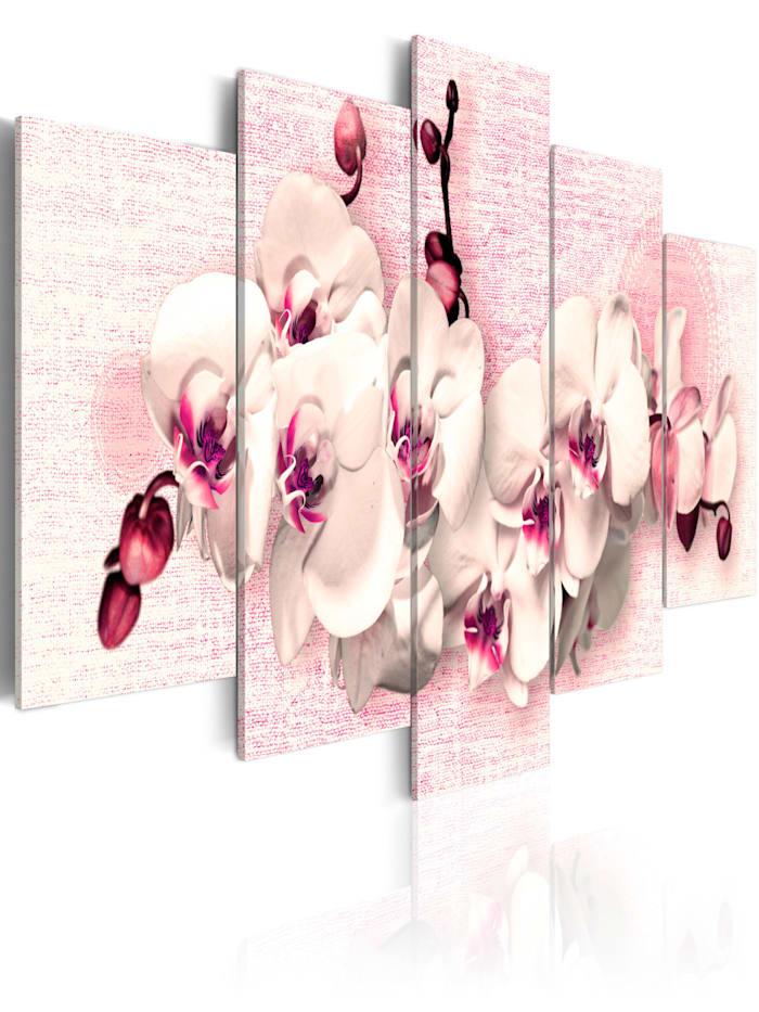 artgeist Wandbild Metapher der Weiblichkeit - 5 Teile, Weiß,rosa,Creme