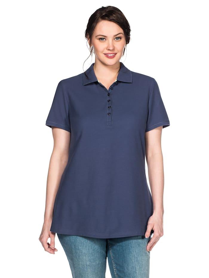 Sheego Poloshirt, jeansblau