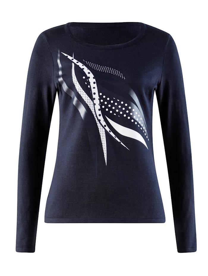 Pullover mit platziertem Print