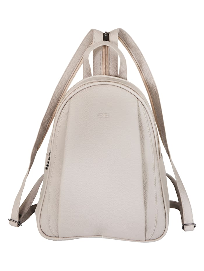 BERNARDO BOSSI Rucksack aus hochwertigem Softmaterial, stein