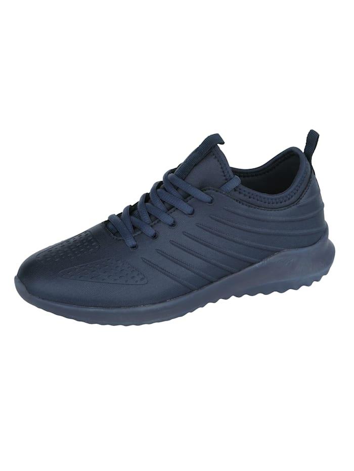 Sneaker in Satin-Optik