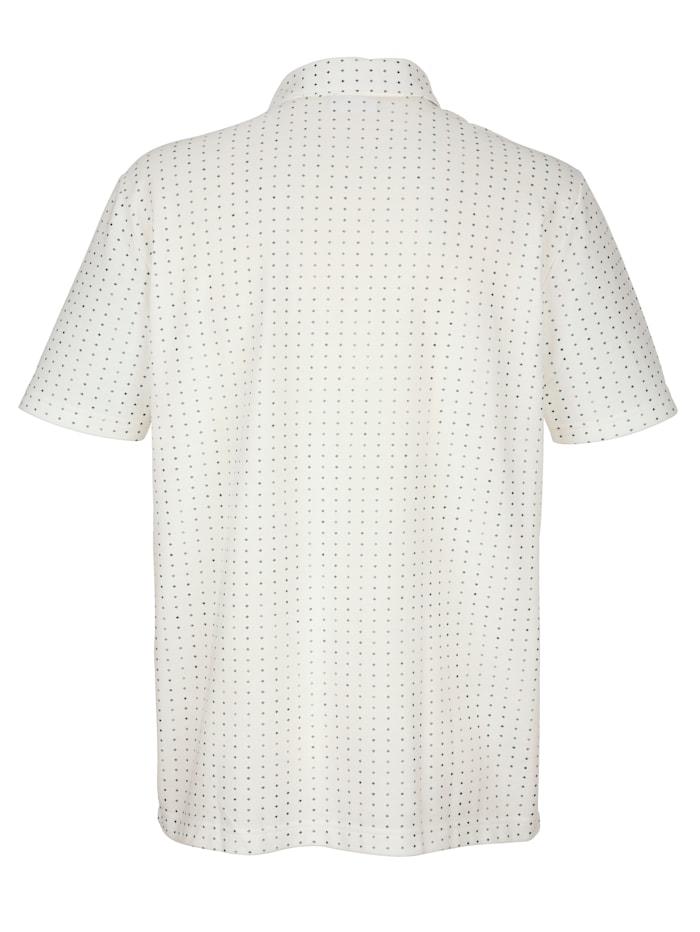Jerseyhemd mit durchgehender Knopfleiste