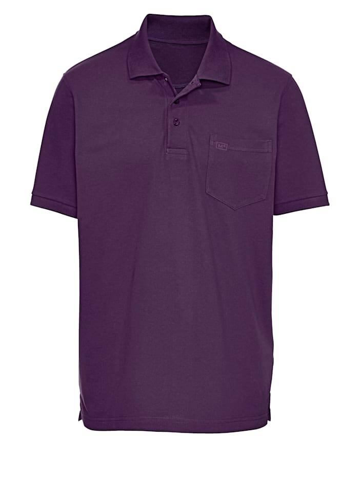 Men Plus Poloshirt aus reiner Baumwolle, Lila