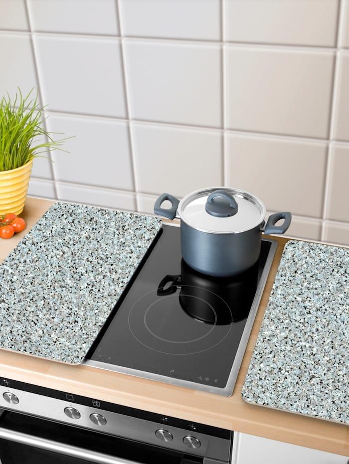 2 komfyrdekkplater -Granitt-