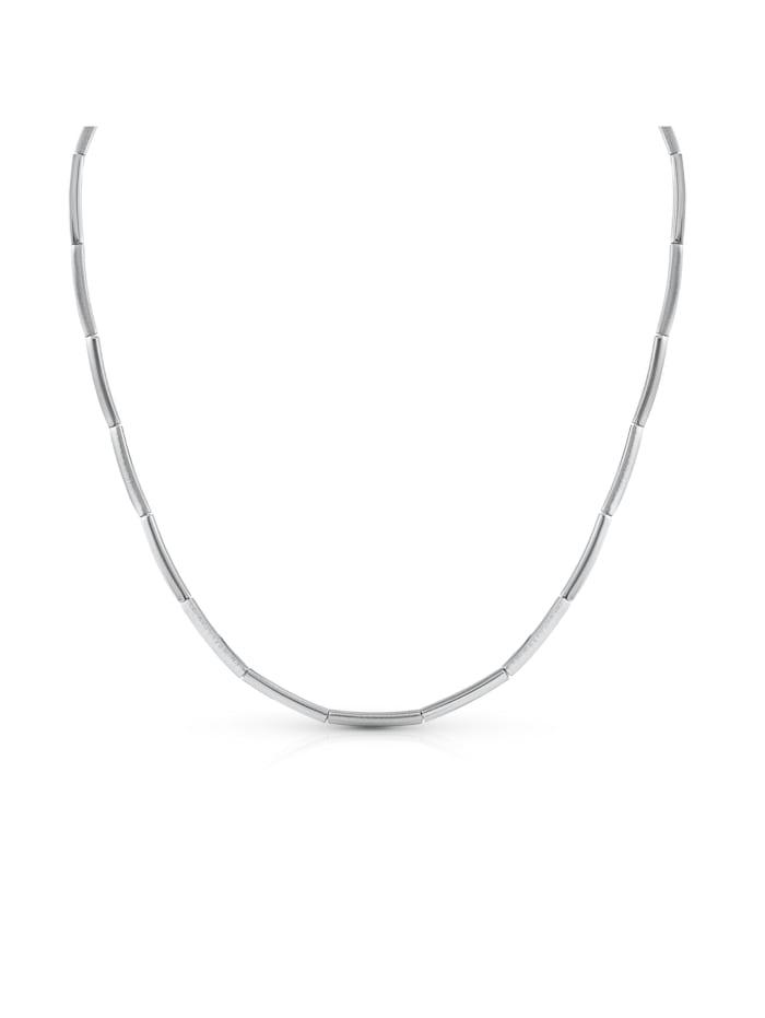 ZEEme Collier 925/- Sterling Silber 45cm Rhodiniert, weiß