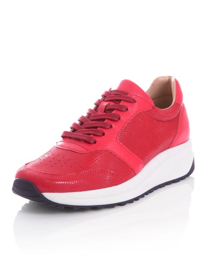 Alba Moda Sneaker aus Rindsleder, Rot