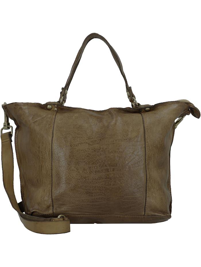 Campomaggi Shopper Tasche Leder 30 cm, verde militare
