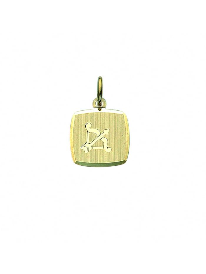 1001 Diamonds Damen & Herren Goldschmuck 333 Gold Sternzeichen Anhänger Schütze, gold
