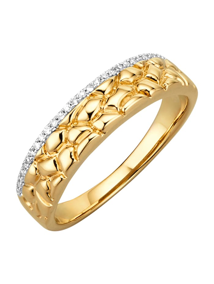 Diemer Highlights Damenring mit 29 Diamanten, Gelbgoldfarben
