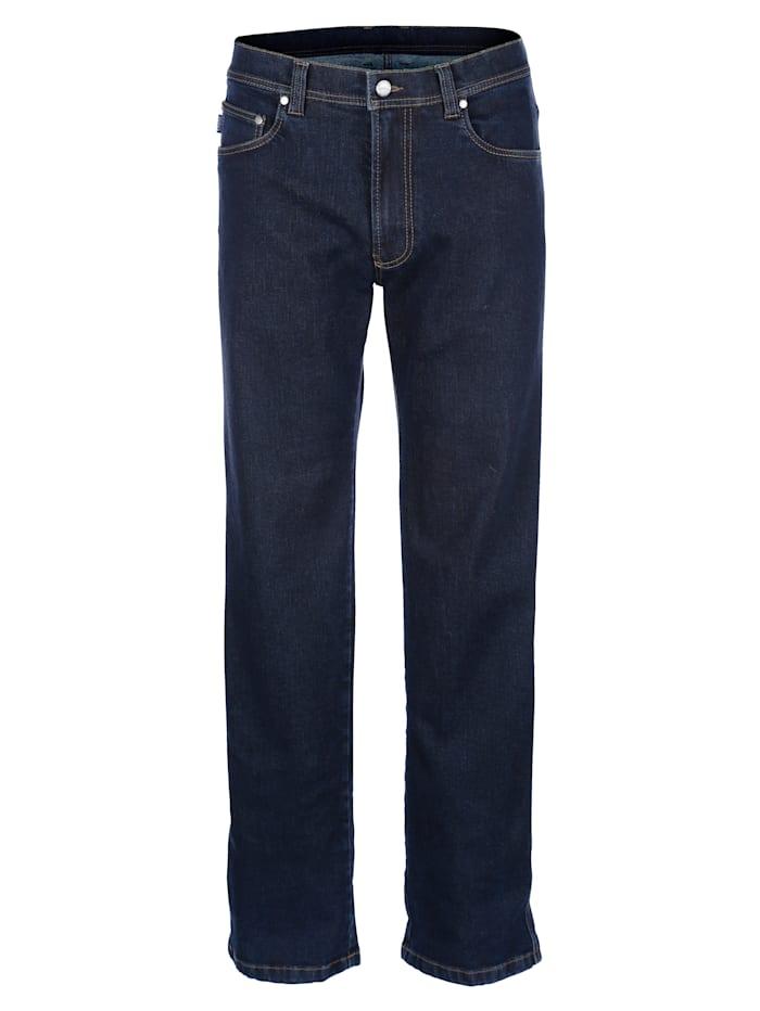 Brühl Jeans van strijkvrij materiaal, Dark blue