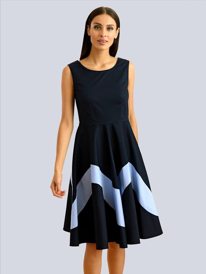 Alba Moda Kleid mit Rundhalsausschnitt, Blau/Hellblau