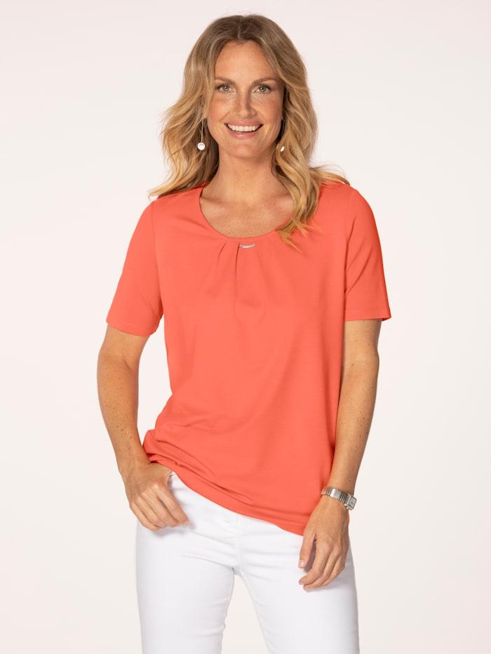 MONA Shirt aus Feinjersey, Orange