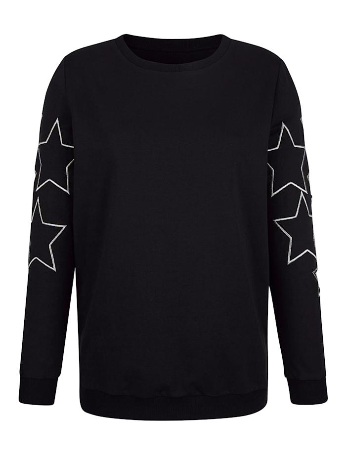 Sweatshirt met cut-outs
