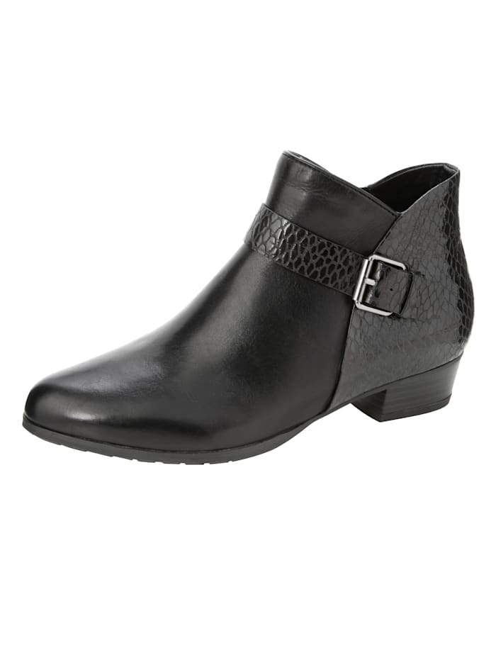 Gerry Weber Bottines en superbe association de cuirs, Noir