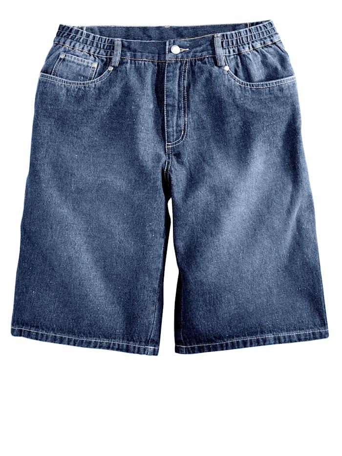 Men Plus Jeansbermuda, Blue stone