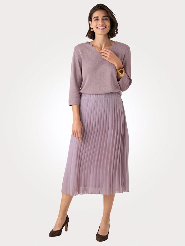 Pullover mit dezent schimmernden Glanzgarn
