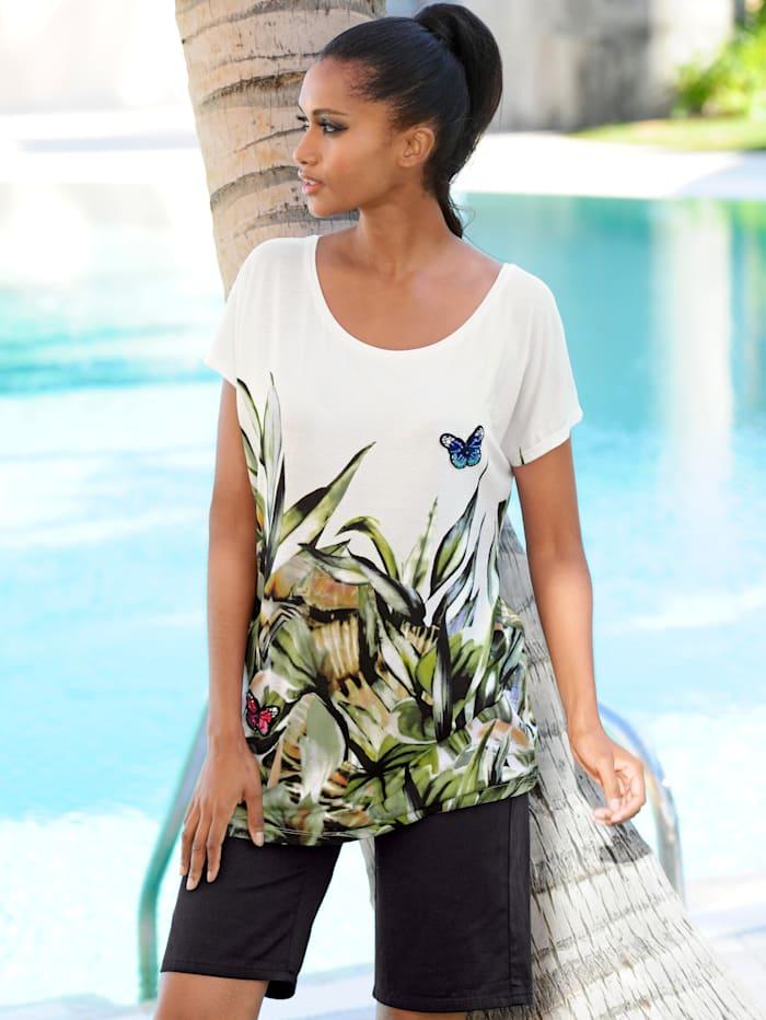 Strandshirt mit applizierten Schmetterlingen
