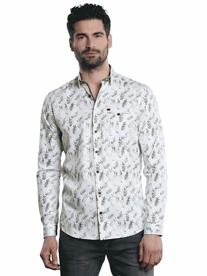 Engbers Modisches Langarmhemd mit floraler Musterung, Anthrazit