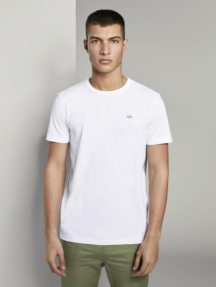 Basic T-Shirt aus speziellem Jersey