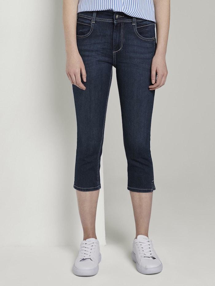 Tom Tailor Kate Slim Capri-Jeans, dark stone wash denim