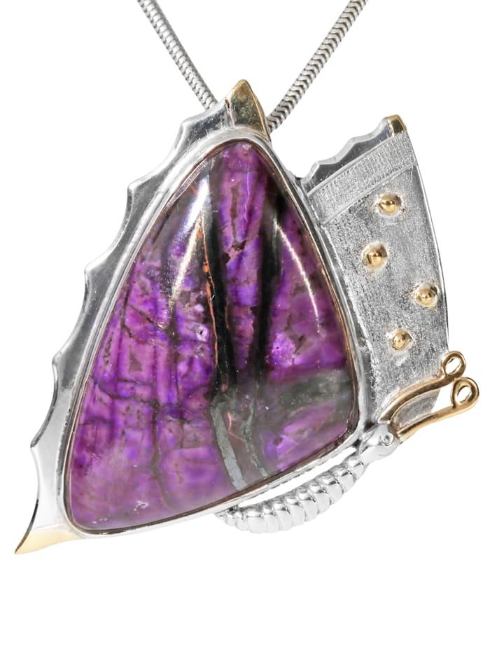 1001 Diamonds Damen Schmuck Edelstein Sugilit Anhänger 925 Silber bunt, bunt