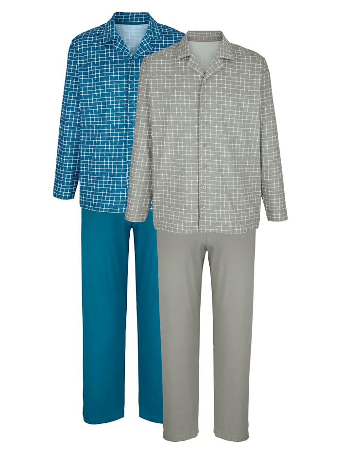Pyjama's met klassieke overhemdkraag