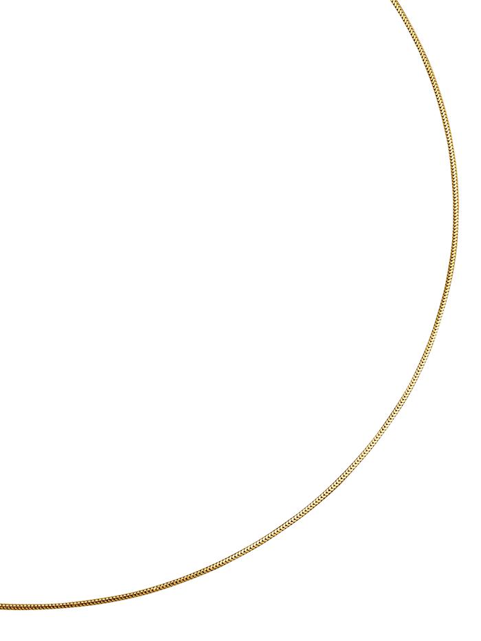 Amara Gold Schlangenkette massiv, Gelb