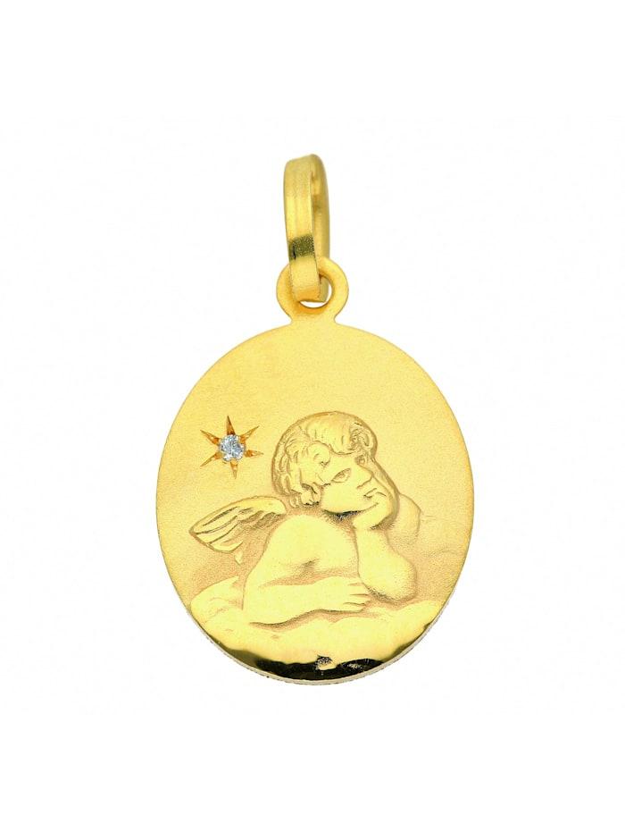 1001 Diamonds Damen Goldschmuck 333 Gold Anhänger Amor mit Diamant, gold