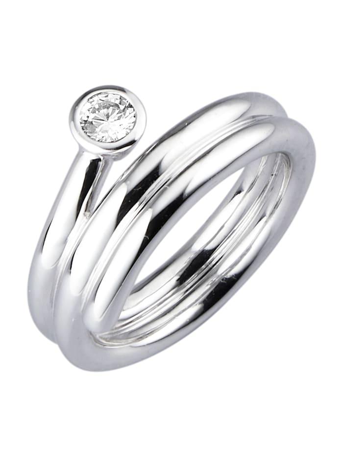 Diemer Trend Damenring, Silberfarben